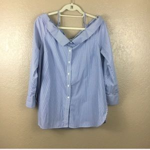 Skies Are Blue button down blouse sz large